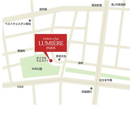 高知大丸店アクセスマップ