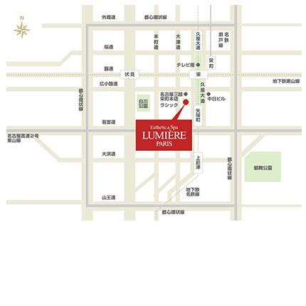 名古屋ラシック店アクセスマップ